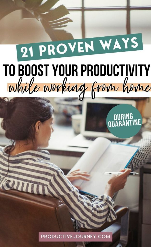 21 Proven Ways to increase your productivity while working from home during Quarantine