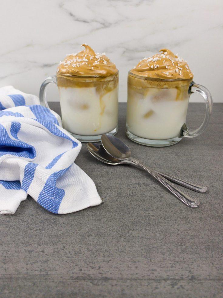 3in1 Coconut Dalgona Coffee Recipe