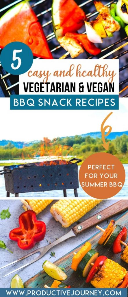 easy and healthy vegetarian vegan bbq snack recipes