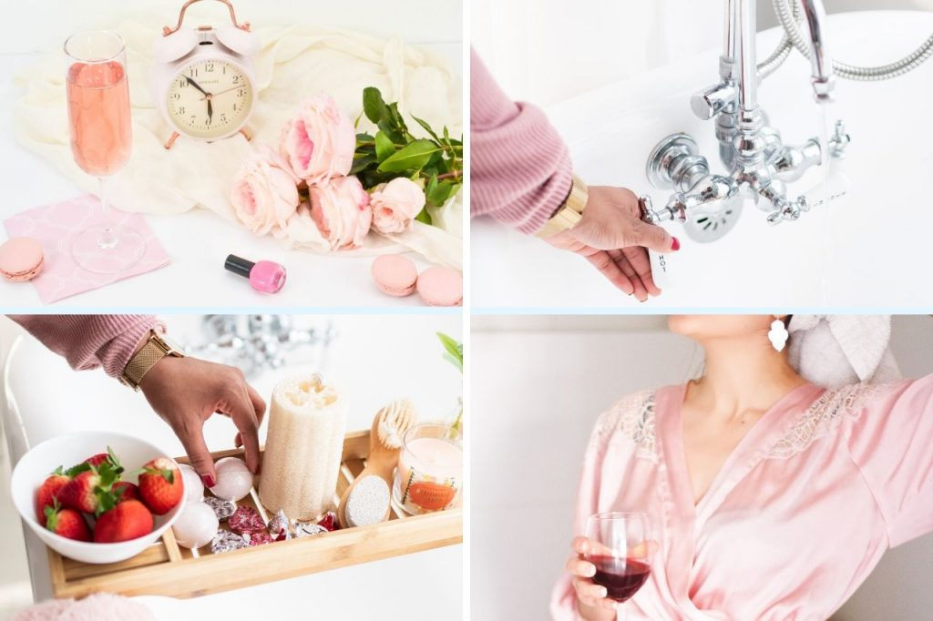spa day at home - pamper day at home